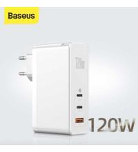 Baseus GaN 2 Pro Quick Charger 2C+U, 120w max, USB QC 30w, PD 100w, CCGAN120E (CCGAN-J02) white
