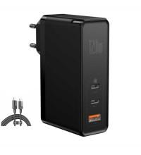Baseus GaN 2 Pro Quick Charger 2C+U, 120w max, USB QC 30w, PD 100w, CCGAN120E (CCGAN-J01) black