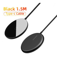 Baseus Simple Mini Magnetic Wireless Charger, QI 15W, support iP12 Series, BS-W522 (WXJK-F01) black