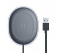 Baseus Jelly Wireless Charger, max QI 15w, неотсоединяемый кабель (WXGD-01) black