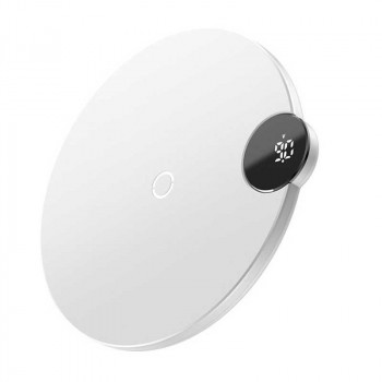 Baseus Digital LED Display Wireless Charger 15W, BSWC-P21 (WXSX-02) white