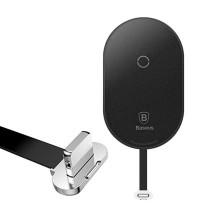 Baseus Microfiber Wireless Charging Receiver, QI на Lightning (WXTE-A01) black