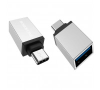Borofone BV3 OTG USB - Type-C адаптер, silver