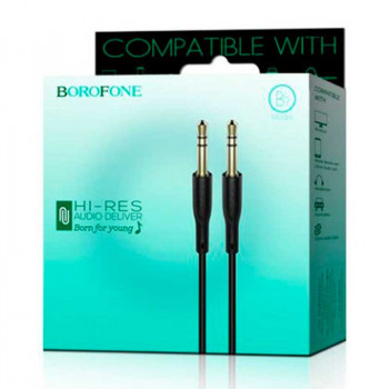 Borofone BL1, AUX Cable, black