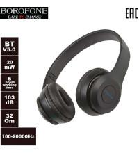 Borofone BO4 Charming Rhyme Wireless Headphones, TF, подсветка, black
