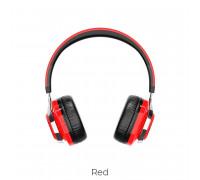 Borofone B08 Wireless Headphone, TF, подсветка, red