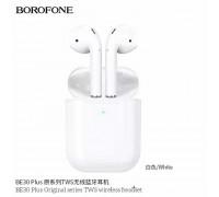 Borofone BE30 Plus TWS Wireless Headset, Wireless Charging Version, с силиконовым кейсом, white