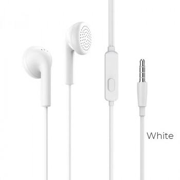 Borofone BM40 Sage Universal Earphones with mic, кабель 1.2м, white