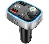 Borofone BC32 Sunlight Car BT FM Transmitter, QC3.0, TF, 7 разных подсветок, black