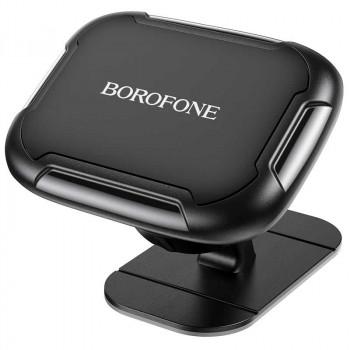 Borofone BH36 Voyage Centrer Console Magnetic Car Holder, магнитный, на панель, black