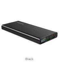 Borofone BT34 10000mah Velocity Power Bank, QC3.0 + PD 18w, LED, black