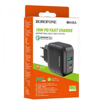 Borofone BA46A Premium, PD18w+QC3.0, black