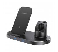 Borofone BQ10 Wise source 3-in-1 Vecal Wireless Fast Charger, QI 15w, black