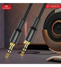 Earldom 3.5 AUX audio cable, 1m, прорезиненный, black (ET-AUX31)