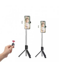 Earldom ET-ZP17 Wireless Live Broadcast Selfie Stick, с треногой и подсветкой, black
