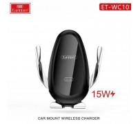 Earldom WC10 3in1 Car Mount 15W Wireless Charger, автозажим, на решетку и стекло, black