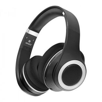 Беспроводные наушники Ginzzu GM-651BT Wireless Headphones Black со встроенным MP3/FM плеером