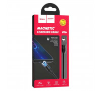 Hoco U76, 8-pin, 1.2m, 2.4A, магнитный black