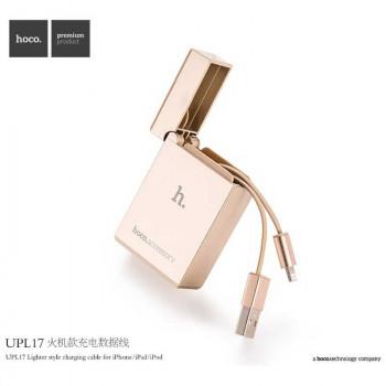 Hoco UPL17 Sigaret Lighter, 8-pin, 0.8 m, gold