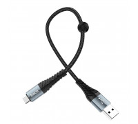 Hoco X38 Cool Charging Data Cable, microUSB, 0.25m, black