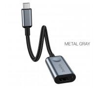 Hoco HB21 Type-C to HDMI Converter, 4K HD, Metal Grey