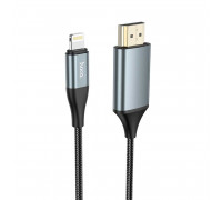 Hoco UA15 Ligtning to HDMI cable, 2m, black