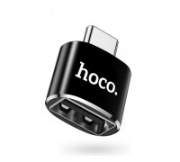 Hoco UA5  OTG TypeC to USB Converter, black