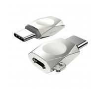 Hoco UA8 Micro to Type-C Adapter (UA8) pearl nickel
