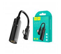 Hoco LS19 Type-C 2-in-1 Audio converter, black