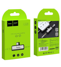 Hoco LS26 Type-C 2-in-1 Audio converter, silver