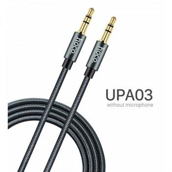 Hoco UPA03 Noble Sound Series, 1m, в оплетке, black