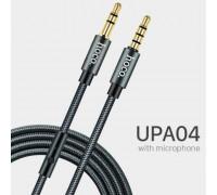 Hoco UPA04 Noble Sound Series audio cable with mic, 1m, в оплетке (UPA04) gray