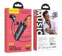 Hoco E52 Euphony Wireless Audio Receiver, с наушниками, BT 5.0, black