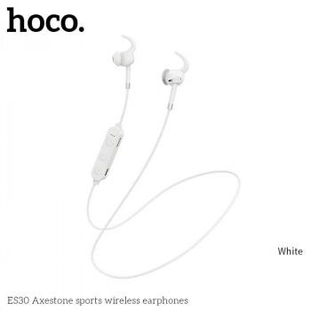 Hoco ES30 Axestone Sport Wireless Earphones, TF microSD, white