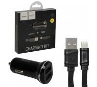 Hoco Z1 Charging Kit 2.1A 2 USB + Lightning 1m, black