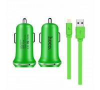 Hoco Z1 Charging Kit 2.1A 2 USB + Lightning 1m, green