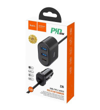 Hoco Z35 PD3.0 Car Charger 42W, 3xUSB + 1xTypeC PD 18W , black
