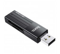 Hoco HB20 Mindful, USB2.0 Card Reader SDXC & microSDXC, black