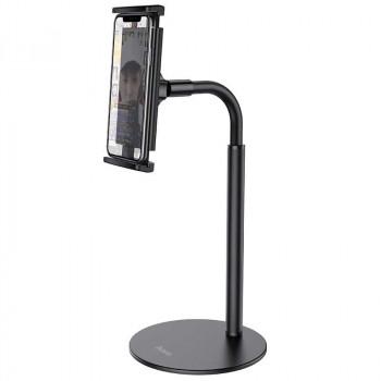 Hoco PH30 Soaring metal desktop Stand, метал. подставка на стол, для телефона и планшета, black