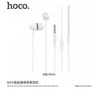 Hoco M34 Honor Music Earphones, white