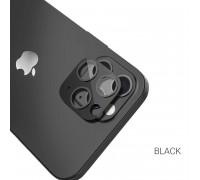 Hoco A18 Camera lens стекло для iPhone 12 Pro 6.1'' на заднюю камеру, 3D, металл, черный