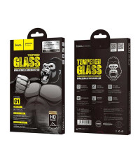 Hoco G1 стекло для iPhone 12 Mini, silk cscreen, черный