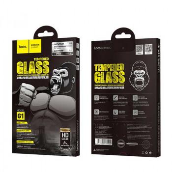 Hoco G1 стекло для iPhone 12 Pro Max 6.7'', silk cscreen, черный
