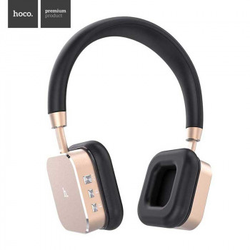 Беспроводные наушники Hoco Wireless Headphones Bluetooth V4.1 Aluminium HIFI 3D Stereo (HPW01) golden
