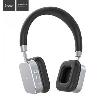 Беспроводные наушники Hoco Wireless Headphones Bluetooth V4.1 Aluminium HIFI 3D Stereo (HPW01) grey