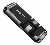 Hoco CA77 Carry Winder Magnetic Holder, магнитный, на панель, плоский, black