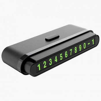 Hoco CPH19 One click Hidden Signage, автовизитница, парковочная карта, black