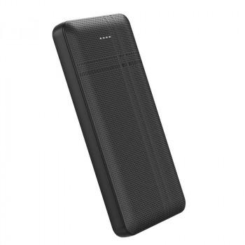 Внешний аккумулятор Hoco J48 10000mah Nimble, 2USB, microUSB + Type-C input, LED (J48-10000) black