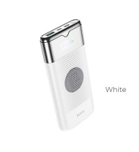 Hoco J63 10000mah Velocity Wireless Charging Power Bank, QI 10w, QC+PD 18w, LED, white
