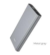 Hoco J68 10000mah Resourceful, 1USB, microUSB/Type-C input, LED (J68-10000) gray